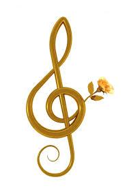 Notenschlüssel golden
